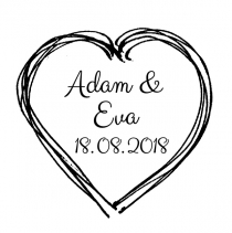 Wedding stamp •Heart•