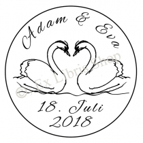 Wedding stamp •Swan•